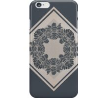 Dark and Light Symmetric Flowers iPhone Case/Skin