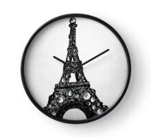 Eyeful Tower Black and White Clock