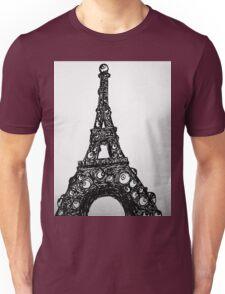 Eyeful Tower Black and White Unisex T-Shirt