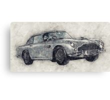 Aston Martion DB5 Drawing Canvas Print
