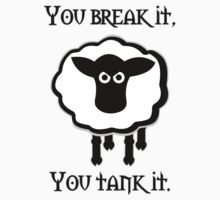 You Tank It - sheep (clean) Kids Clothes