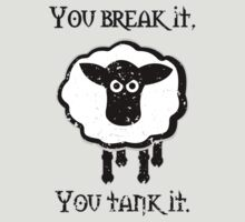 You Tank It - sheep (distressed) by MarkAlmighty