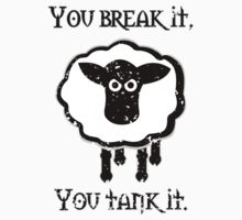 You Tank It - sheep (distressed) Kids Clothes