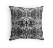 Black and White Droplets Throw Pillow