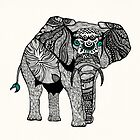 One Tribal Elephant by Pom Graphic Design