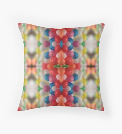 Macro Sprinkles Pattern Throw Pillow