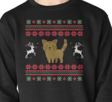 merry christmas cat Pullover