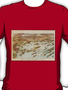 Vintage Pictorial Map of Portland Maine (1906)  T-Shirt
