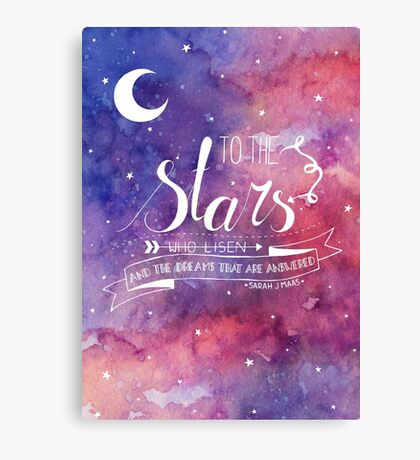 To the stars ACOMAF Quote Canvas Print