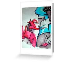 Arcee X Cliffjumper Greeting Card