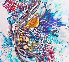 'Yellow Song'/'Song Bird' by Rebecca Yoxall