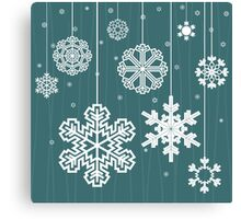 Christmas snow Canvas Print