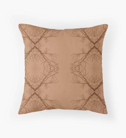 Sepia Branches Throw Pillow