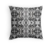 More black and white leaf patterns Throw Pillow