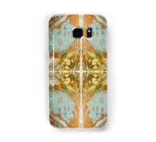 Golden Bronze Blue Ancient Cross  Samsung Galaxy Case/Skin