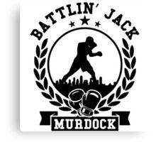 Battlin jack murdock daredevil Canvas Print