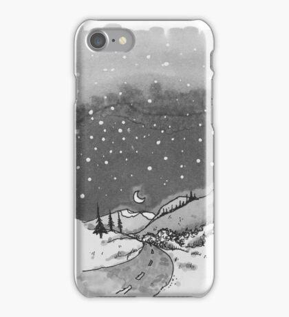 night scene snow iPhone Case/Skin