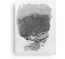 night scene snow Canvas Print
