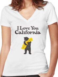 I Love You California Women's Fitted V-Neck T-Shirt