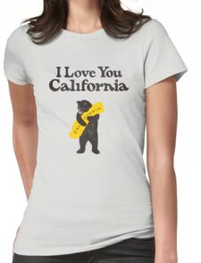 I Love You California Womens Fitted T-Shirt