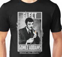 "Elect Gomez Addams- ""Watch His Smoke!"" Unisex T-Shirt"