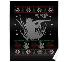 Duck Hunting Christmas Poster