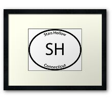 Stars Hollow - Euro Style Car Sticker Framed Print
