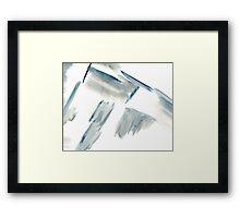 Blue at an angle Framed Print