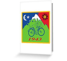 Hofmann Bike ride LSD Blotter Art Psychedelic Tee Greeting Card
