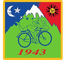 Hofmann Bike ride LSD Blotter Art Psychedelic Tee Photographic Print