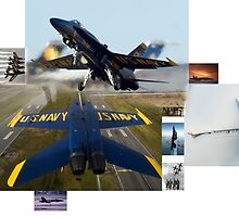 Blue Angels Montage #1 by John Schneider