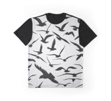 Black Birds Flying Animals  Graphic T-Shirt