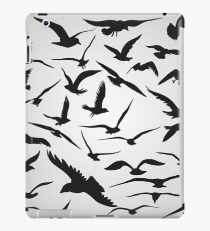 Black Birds Flying Animals  iPad Case/Skin