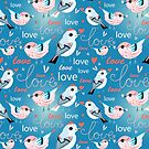 pattern of birds lovers  by Tanor