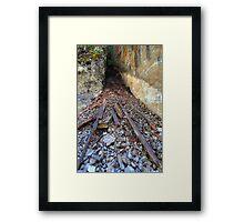 Rock slide Framed Print