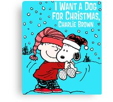 cover charli brown - i want a dog for christmas Canvas Print