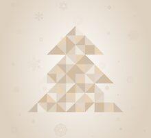 Christmas tree a triangle by Aleksander1
