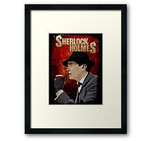 Sherlock Holmes Jeremy Brett T-Shirt Framed Print