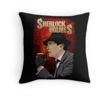 Sherlock Holmes Jeremy Brett T-Shirt Throw Pillow