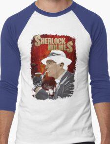 Sherlock Holmes Jeremy Brett T-Shirt Men's Baseball ¾ T-Shirt
