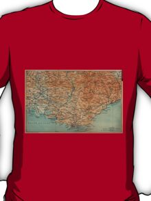 Vintage Map of Southern France (1914) T-Shirt