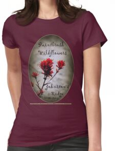 paintbrush wildflowers, Johnston's Ridge 2 oval Womens Fitted T-Shirt