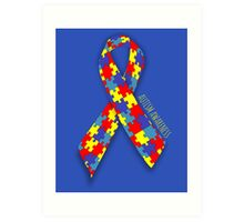 Autism Awareness Ribbon Art Print