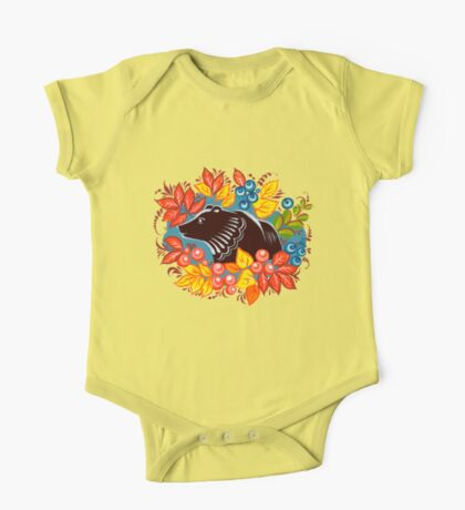 The Bear in autumn forest One Piece - Short Sleeve