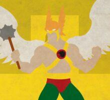 Hawkman - Superhero Minimalist Alphabet Print Art Sticker