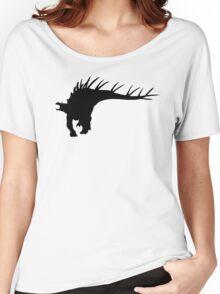 Kentrosaurus Dinosaur Silhouette (Black) Women's Relaxed Fit T-Shirt