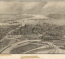 Vintage Pictorial Map of Providence RI (1896) by BravuraMedia