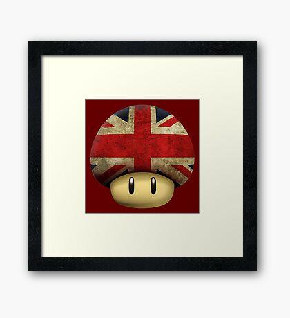 Union jack Mario's mushroom Framed Print