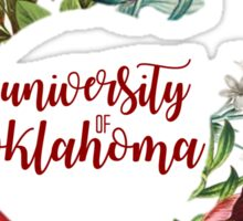 University of Oklahoma Fall Floral Wreath Sticker