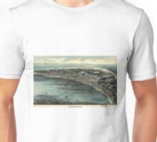 Vintage Pictorial Map of Provincetown (1910) Unisex T-Shirt